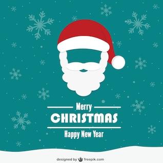 Cartão de Natal do vintage com o Papai Noel rosto