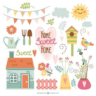 Início elementos do jardim sweet home