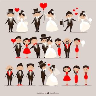 Casais de casamento embalar