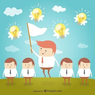 Caça para ideias de negócio