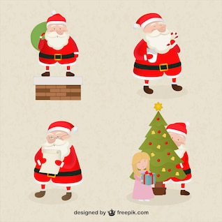 Desenhos animados de Papai Noel embalar