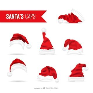 Chapéus de Papai Noel embalar
