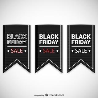 Black Friday rótulos de vendas