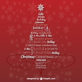 Árvore de Natal com letras