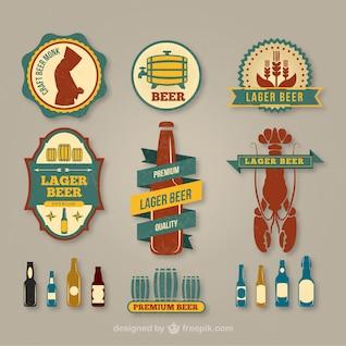 Lager pacote rótulo de cerveja