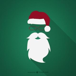 Hipster Papai Noel vector