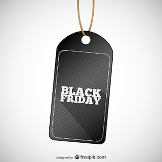 Black Friday rótulo vector