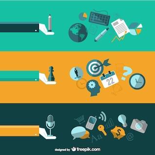 Elementos profissionais vector