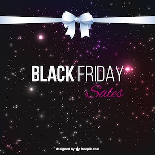 Black Friday vendas fundo com fita branca