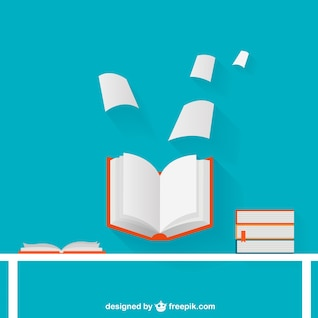 Abra o livro de ilustração