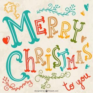 Natal colorido letras vector