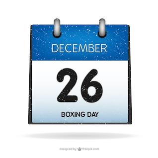 Boxing Day calendário vector