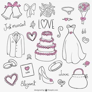 Wedding rabisca coleção