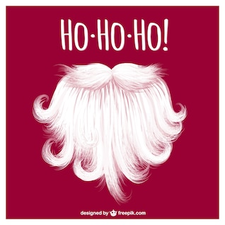 Papai Noel barba vector