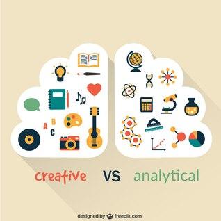 Criativo e analítico do cérebro