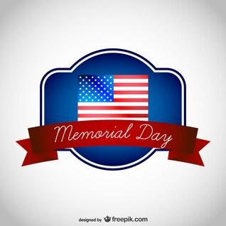 Memorial Day e bandeira americana