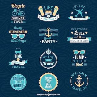 Emblemas férias de verão