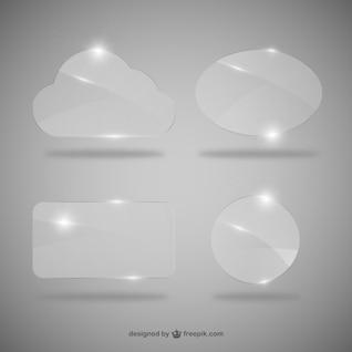 Caixas de diálogo de cristal