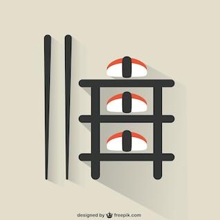 Sushi comida ilustração