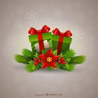 Natal presentes ilustração