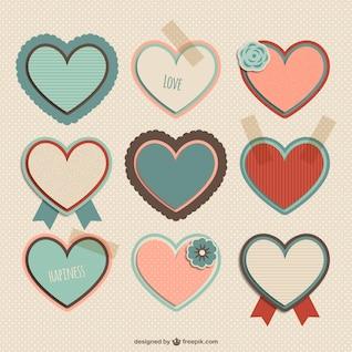Coleção de carta corações