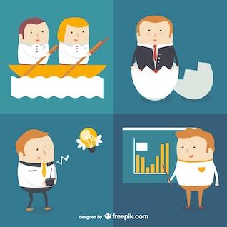 Negócios e consultoria personagens