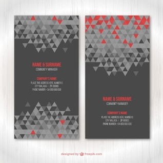 Cartoes de visita geométrico