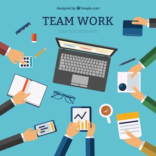 Equipe template trabalho vector