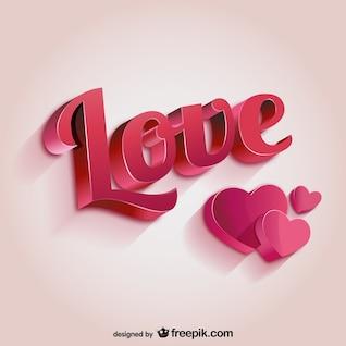 Lettering amor 3D