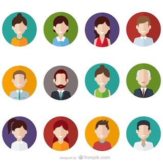 Pessoas emblemas