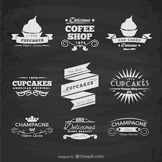Cupcakes e cafetaria adesivos