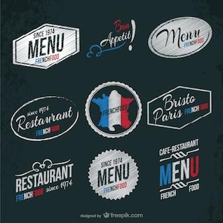 Restaurante francês adesivos