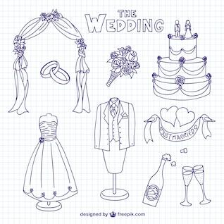 Rabiscos de casamento