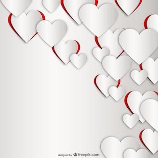 Valentine fundo dos corações