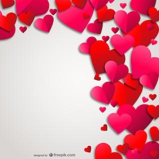 Fundo dos corações