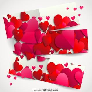 Corações fundo romântico