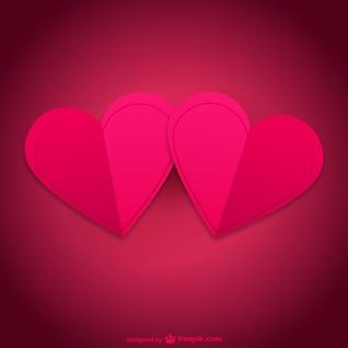 Par de cartão de corações