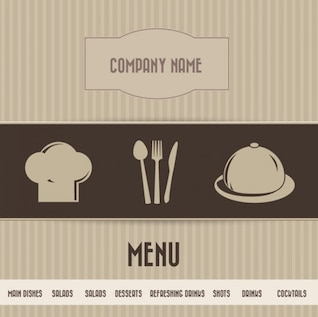 Restaurante Menu Card Brown Simples
