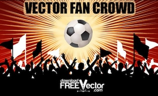 Multidão Fan livre Vector