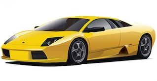 Vector carro amarelo
