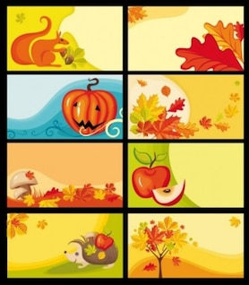 Cartoon clip art elementos decorativos vector