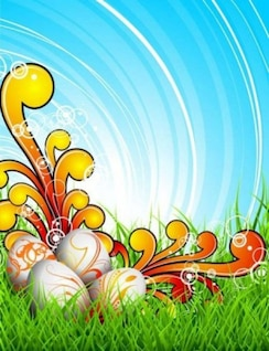 Fundo ovos Celebração