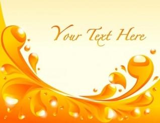 fundo líquido laranja com espaço para o texto