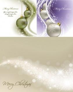 Linhas de Natal bolas e brilhos