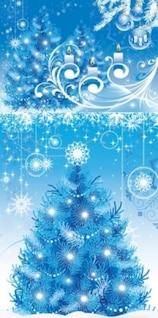 Livre fundo azul do vetor da árvore de Natal onda linha de fluxo bonito branco neve bonita inteligente