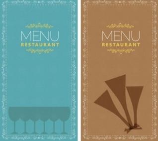 Grátis variado menu do restaurante vetor azul marrom alimentos bonito bonito inteligente