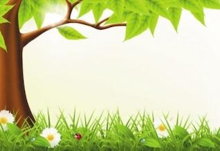 Bonito floresta primavera vetor