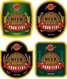 vetor livre garrafa de cerveja adesivos misc