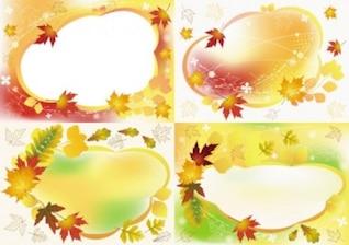 livre do vetor variado belo outono moldura