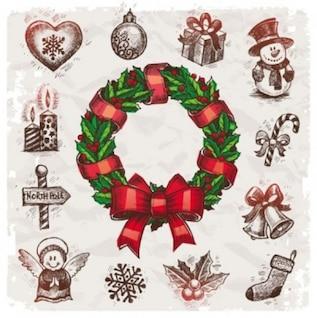 livre do vetor guirlanda de Natal